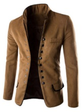 Single-Breasted Slim Stand Collar Casual Men's leisure Blazer