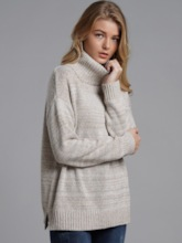 Turtleneck Mid-Length Pullover Women's Sweater