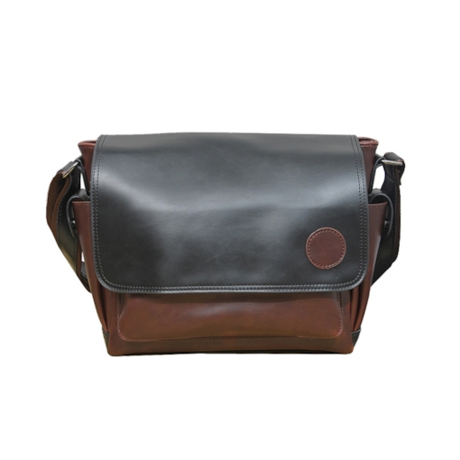 PU Color Block Barrel-Shaped Crossbody Men's Bags