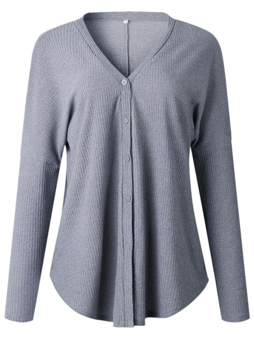 V-Neck Thread Single-Breasted Women's Cardigan
