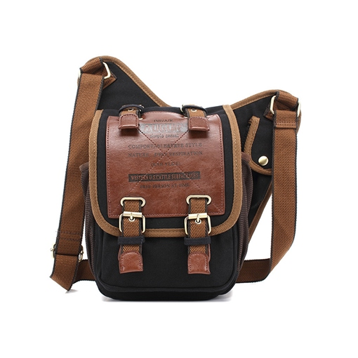 Thread Letter Canvas Crossbody Men's Bags