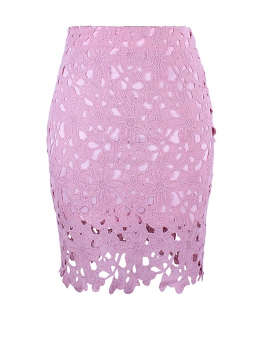 Lace High-Waist Hollow Women's Pencil Skirt