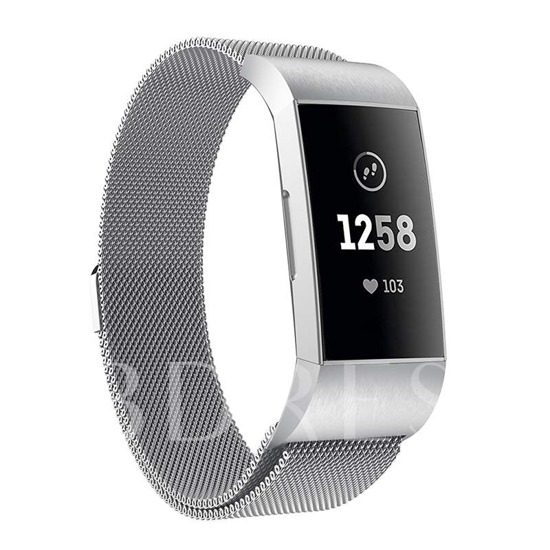 Stainless Steel Magnetic Milanese Loop Band for Fitbit Charge 3 Watchband
