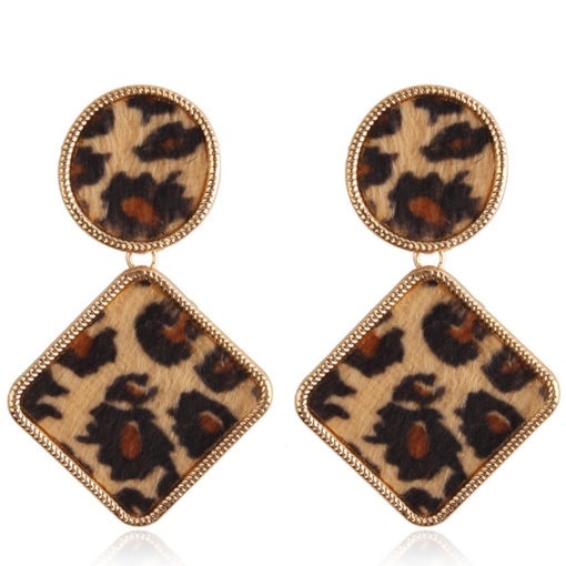 Trend Leopard Pattern Velvet Party Earrings