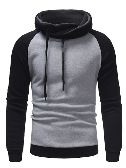 Slim Pullover Pullover Color Block Casual Men's Hoodie