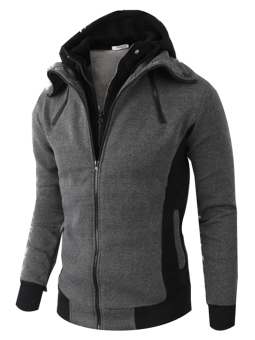 Cardigan Thick Loose Zipper Men's Hoodie