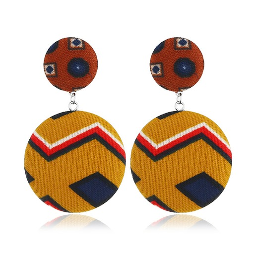 Ethnic Geometric Shape Cloth Fall Winter Earrings