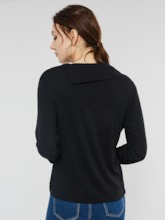 Plain Slim Pullover Long Sleeve Women's Hoodie