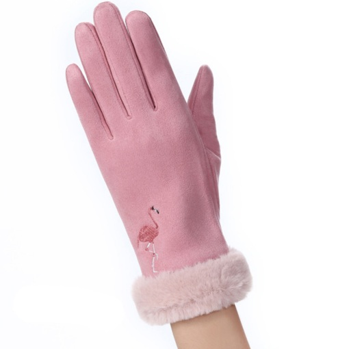 Suede Fashion Women Warmth Winter Gloves