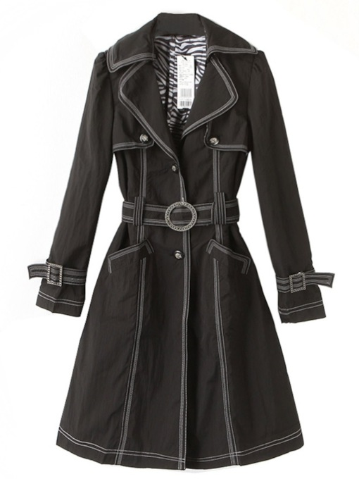 Mid-Length Single-Breasted Women's Trench Coat