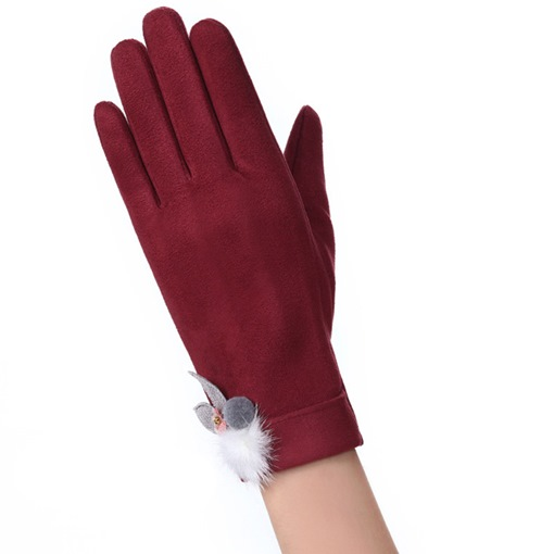 Fashion Suede Winter Gloves