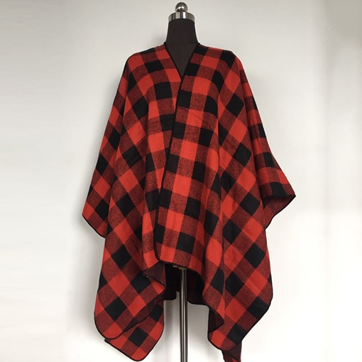 Vintage Plaid Print Soft Fall Winter Scarves