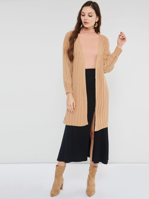 Wrapped Thread Mid-Length Women's Cardigan
