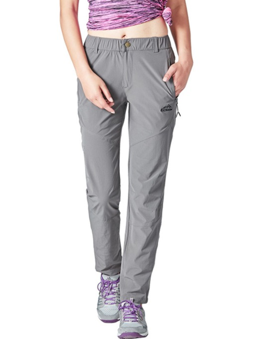 Pockets Solid Breathable Quick Dry Outdoor Women's Long Pants