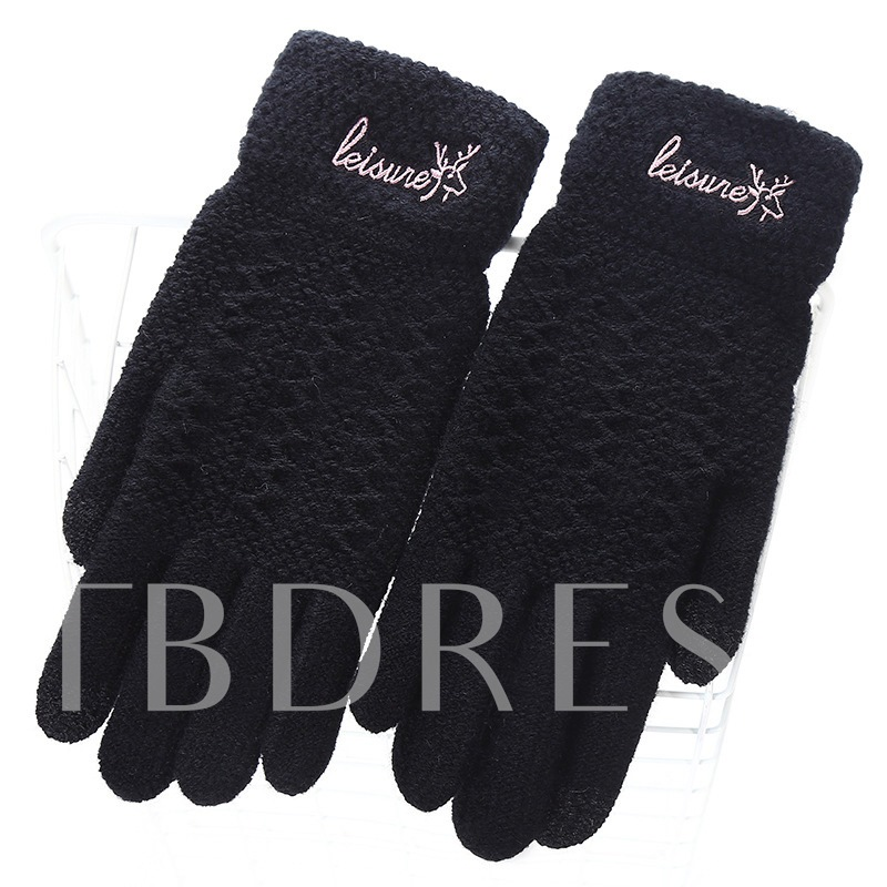 Sweet Knitted Winter Touch-Screen Mitten Gloves