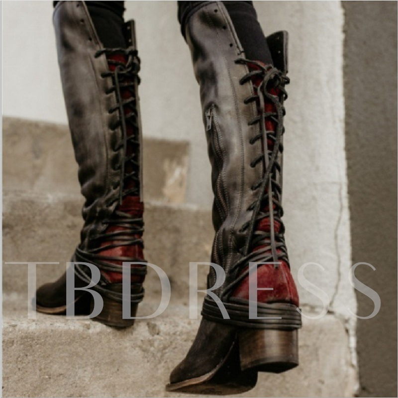 73ded7fffca Women Vintage Lace Up European Style Bandage Above Knee Boots. Sold Out