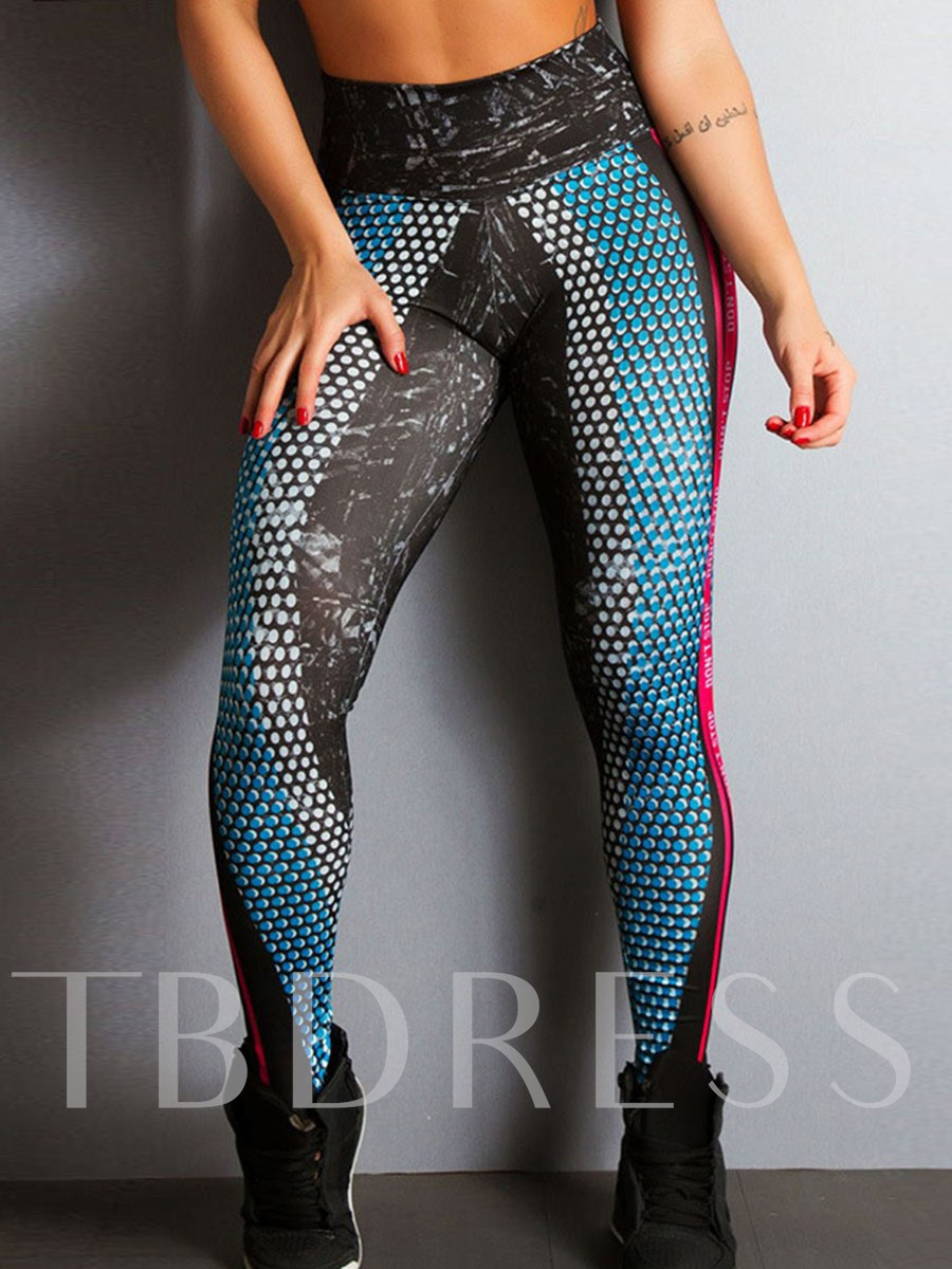 Women Geometric Digital Print Workout Pencil Yoga Athletic Leggings