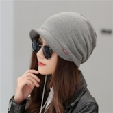 Plain Dome Cotton Winter Unisex Skullies & Beanies