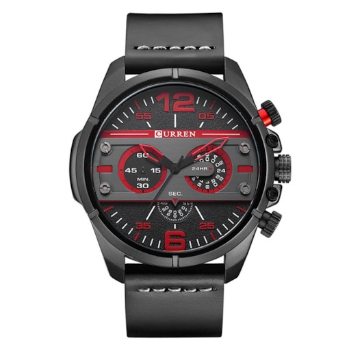 Round Three-Face Water Resistant Quartz Men's Watches