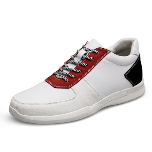 Low Cut Elevated Color Block Lace-Up Round Toe Men's Skate Shoes