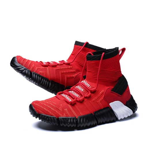 High Top Lace-Up Round Toe Versatile Chic Men's Sneakers