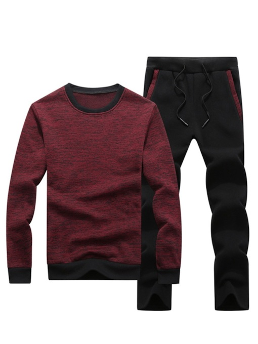 Casual Patchwork Color Block Men's Outfit