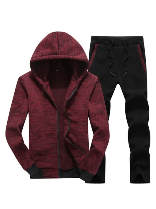Casual Plain Hoodie Men's Outfit