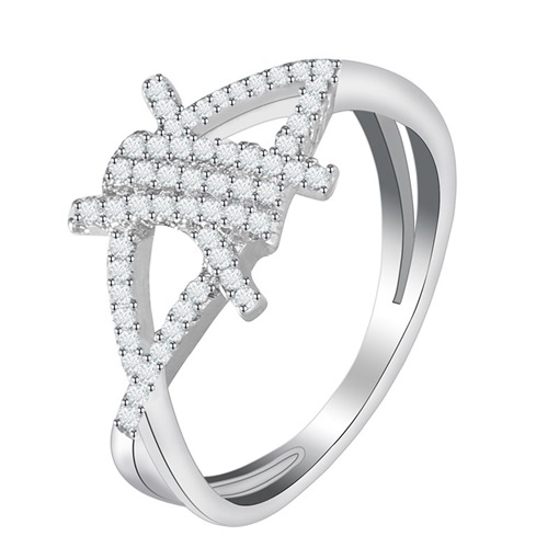 New In Sparkling Rhinestone E-Plating Overgild Ring