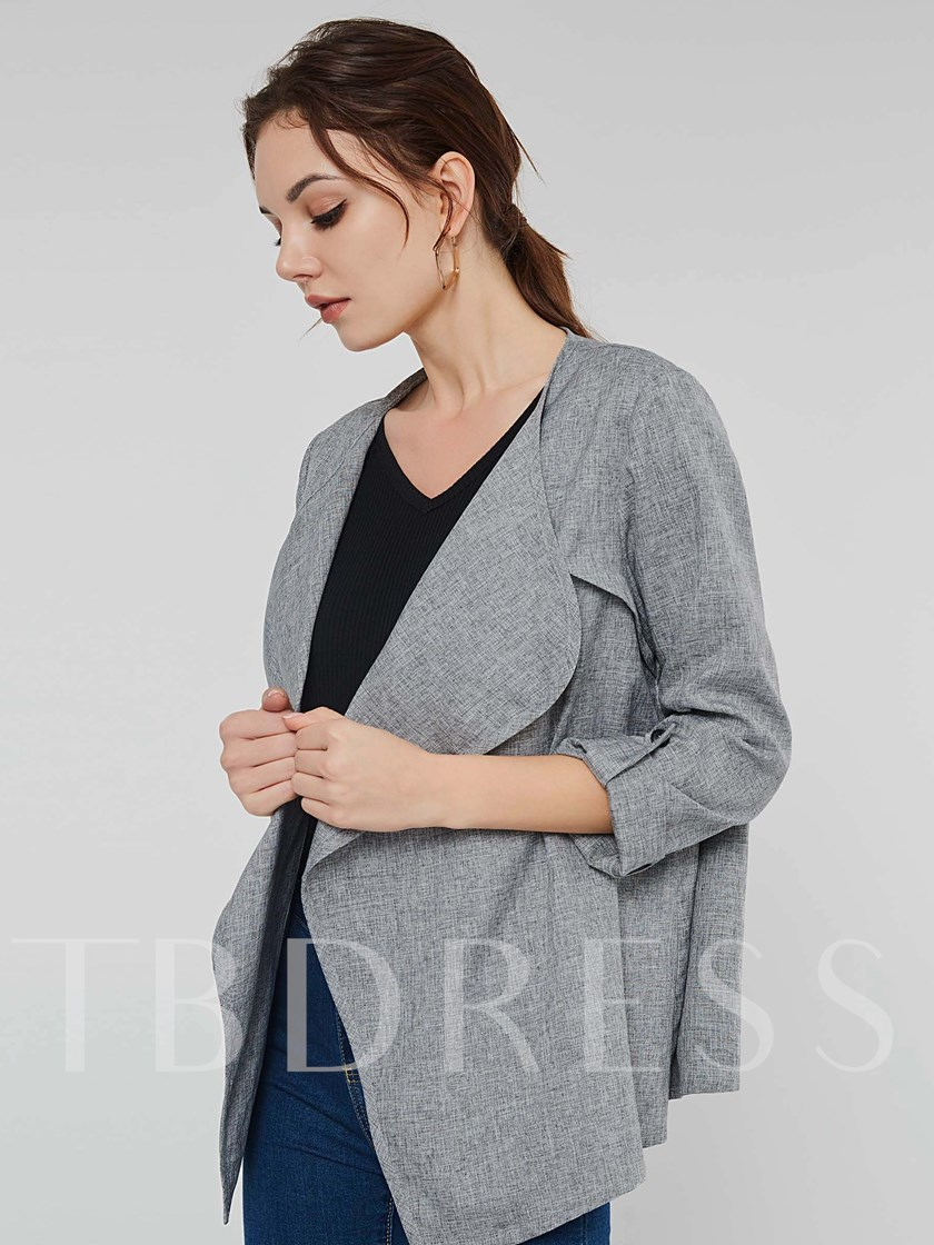 Loose Wrapped Button Women's Overcoat