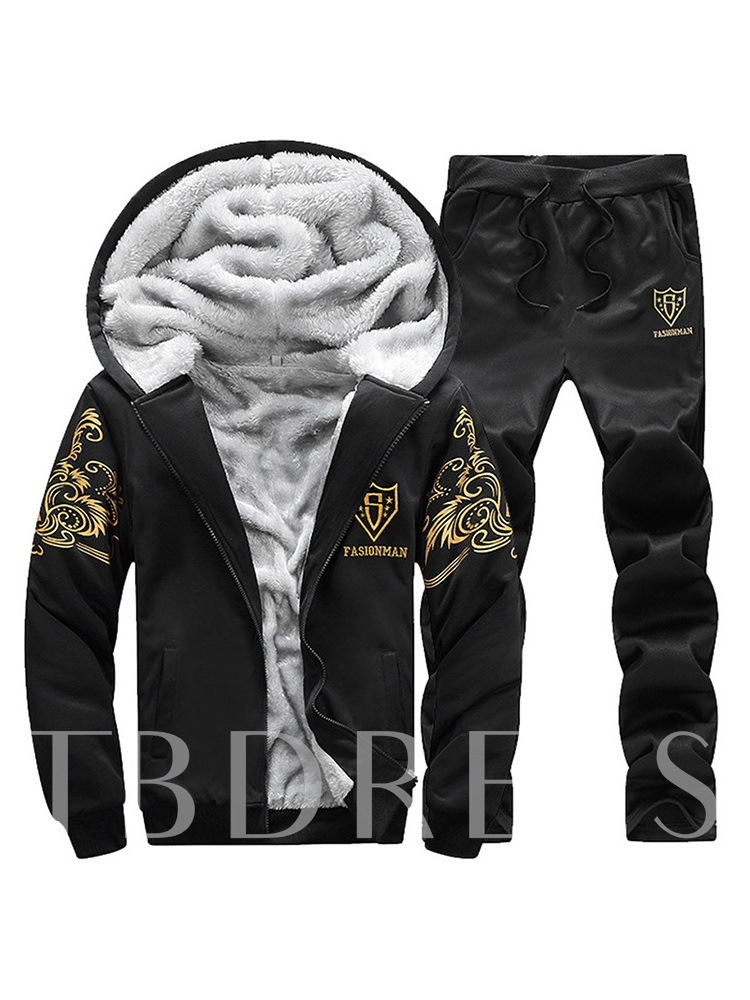 Jacket Winter Sports Print Men's Outfit