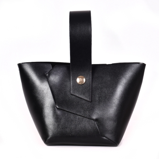 Casual Plain Patchwork Plain PU Barrel-Shaped Soft Tote Bags