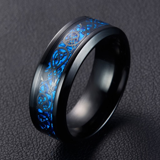 Concise Stainless Steel Wedding Ring