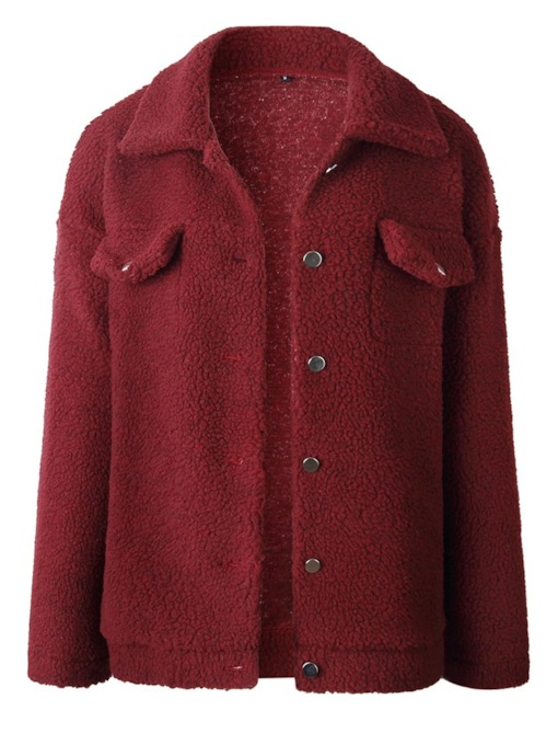 Thick Single-Breasted Fluffy Women's Jacket