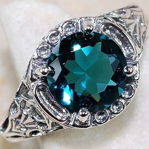 Hot Sale Emerald Design Floral Design Wedding Ring