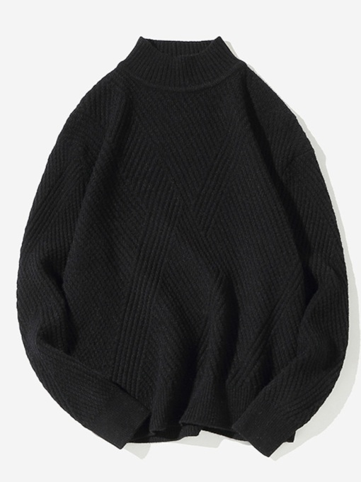Standard Japanese Plain Straight Men's Sweater