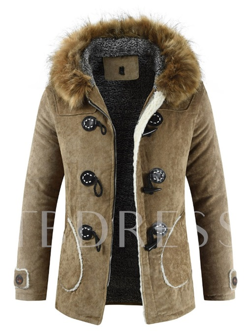 Thick Hooded Slim Standard Casual Men's Jacket