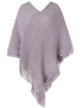 V-Neck Tassel Jacquard Weave Women's Sweater