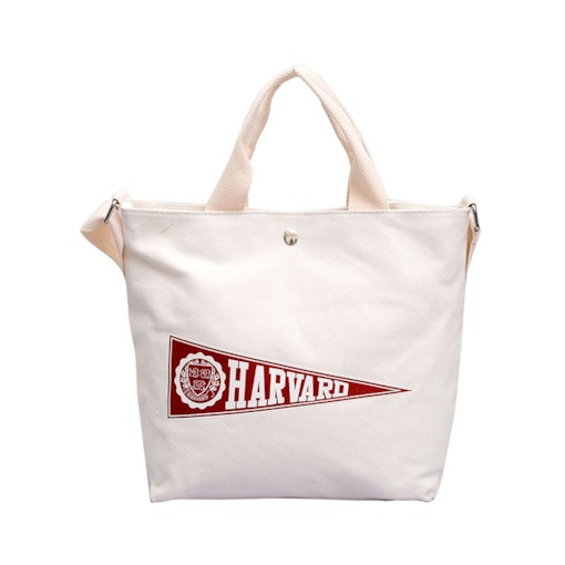 Color Block Letter European Rectangle Tote Bags