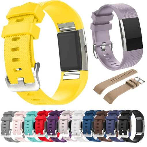 Silicone Strap for Fitbit Charge2 Fitness Smart Bracelet Watches Replacement Sport Strap Bands