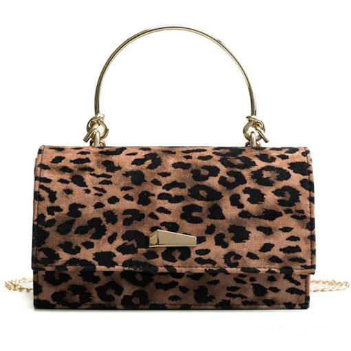 Leopard PU Chain Rectangle Tote Bags