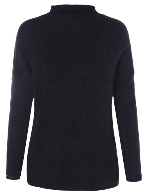 Thread Pocket Plain Women's Sweater