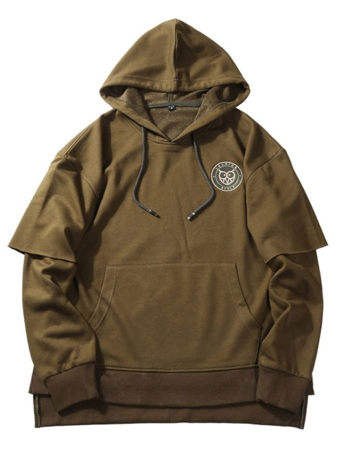 Pullover Loose Pullover Print Double-Layer Men's Hoodie
