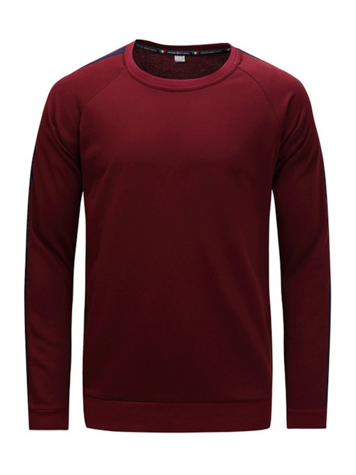Slim Round Neck Men's Sweatshirt