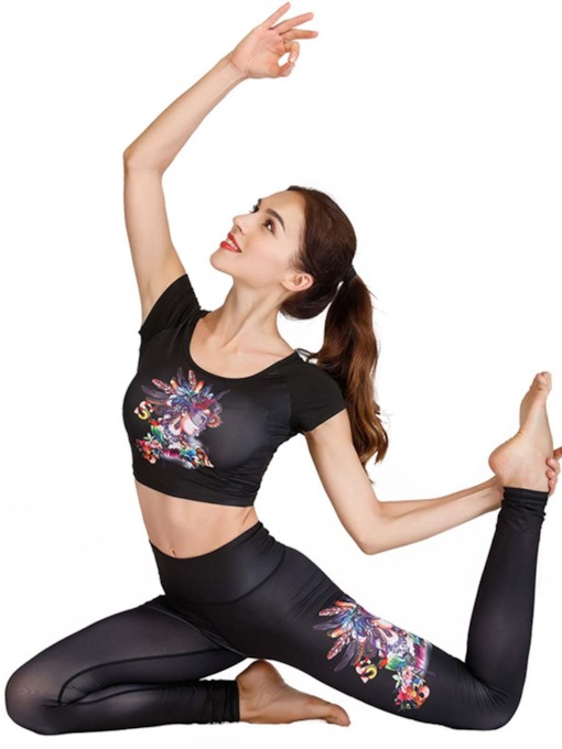 Print Tight Breathable Women's Sports Set