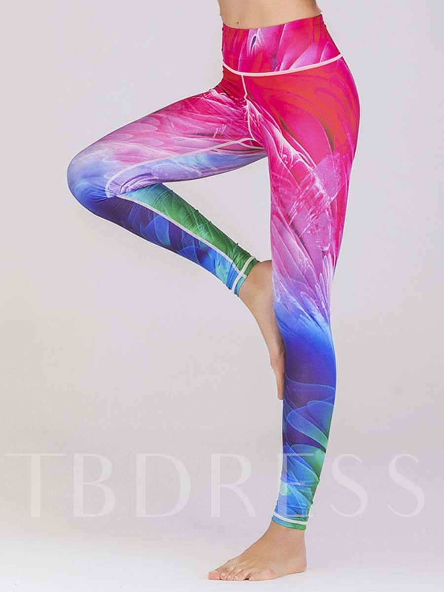 Breathable Print Leggings for Women