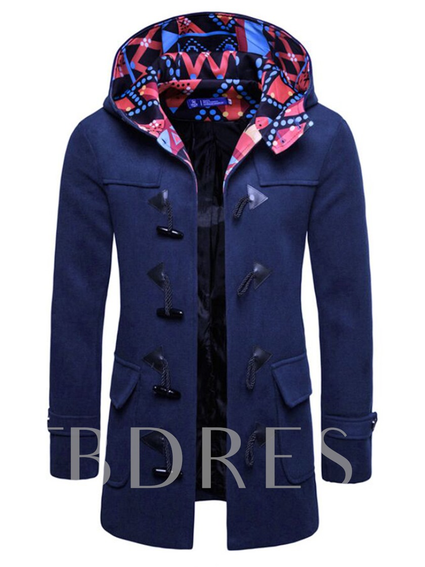 SlimHooded Mid-Length Men's Coat