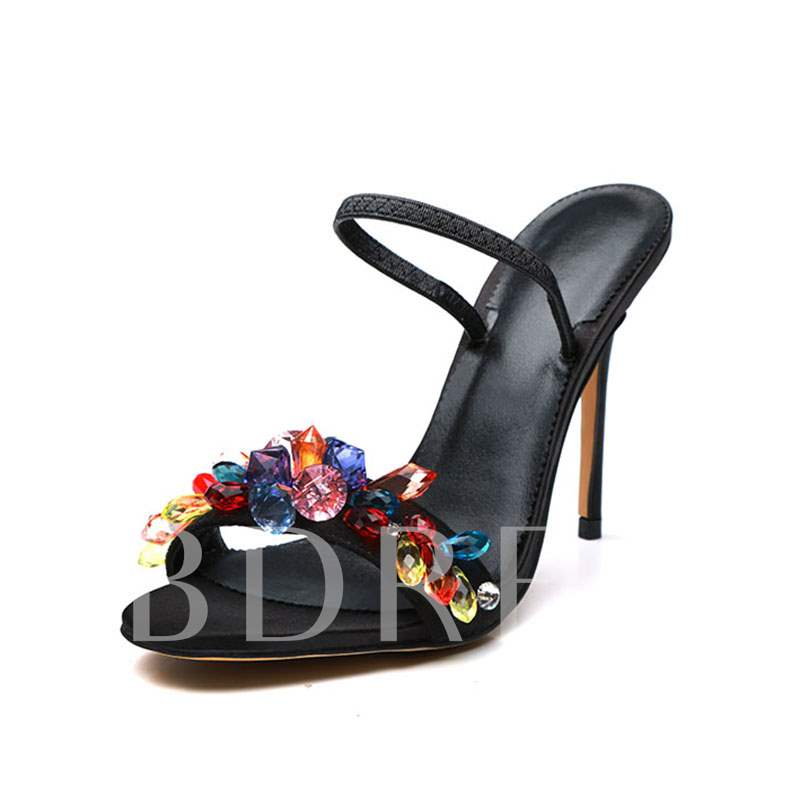 5471564b4 Colorful Rhinestone High Heel Sandals Slippers for Women Prom Shoes. Sold  Out