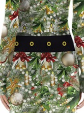 Print Christmas Long Sleeve Sexy Costumes