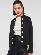 Stand Collar Double-Breasted Women's Jacket