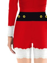 Color Block Long Sleeve Print Christmas Sexy Costumes